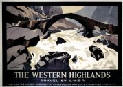 The Western Highlands. LNER Vintage Travel Poster by John Mace, 1935